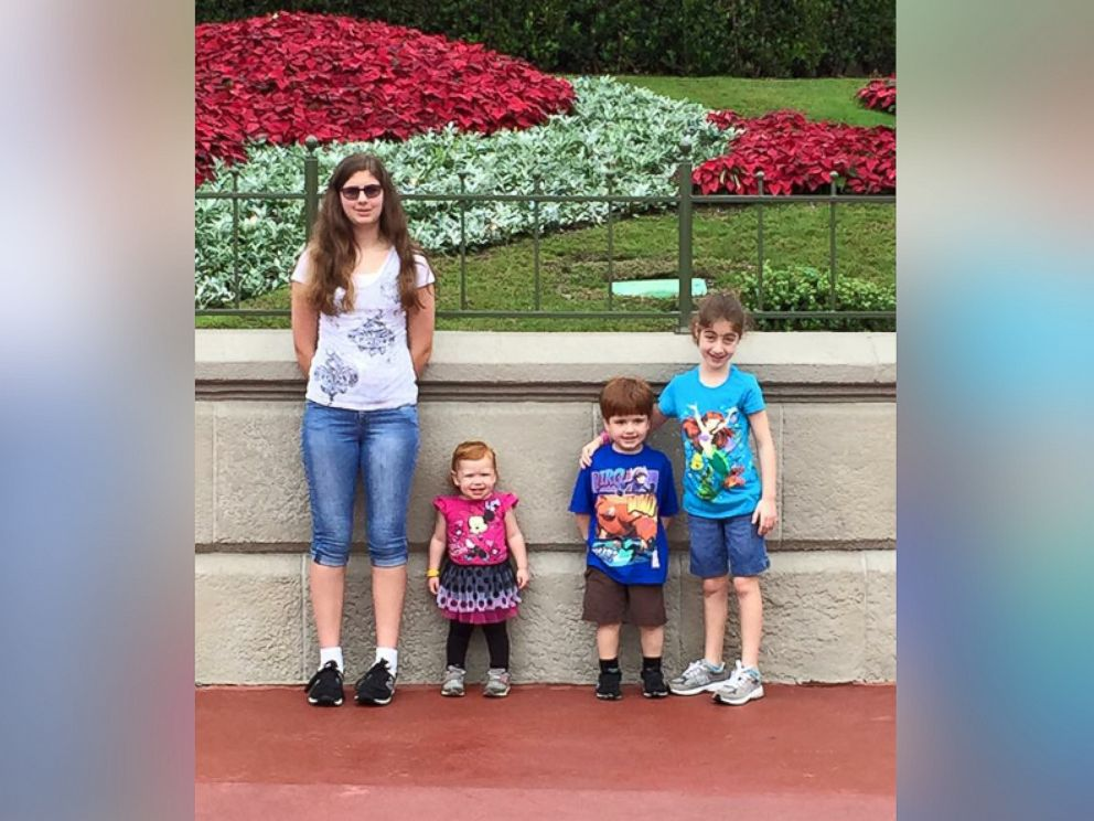 PHOTO: Keira and her siblings photographed at Disney World in Nov. 2015, from left to right: Savannah, 14, Cecilia, 2, Drew, 4, and Keira, 9.
