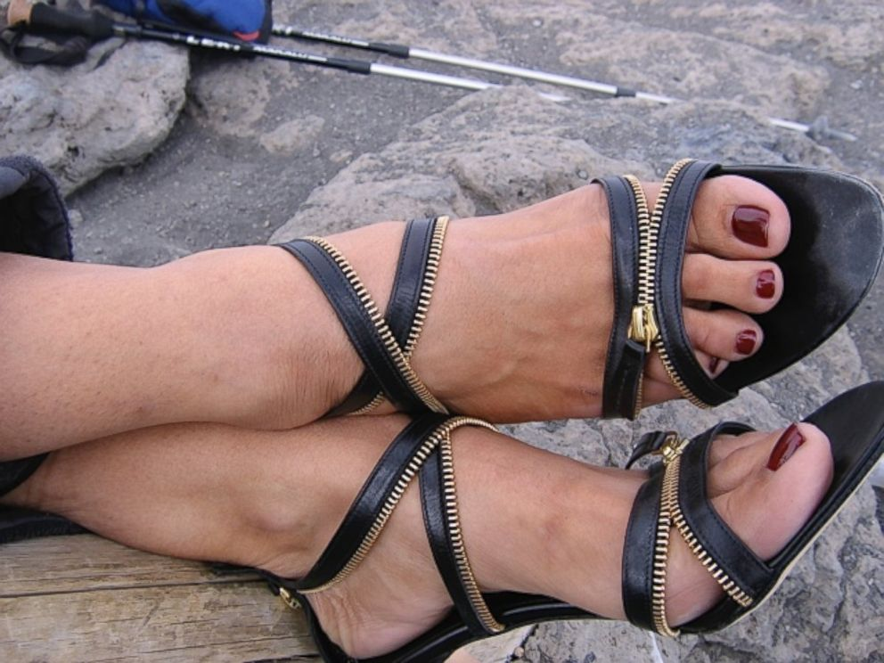 PHOTO: Suqi declared it a miracle that her pedicure withstood the climb.