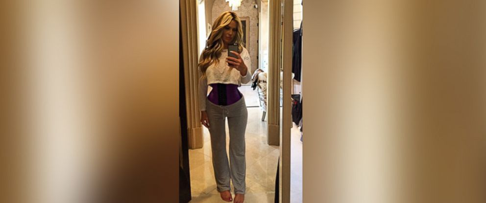 6594e608aa PHOTO  Kim Zolciak is shown wearing a waist trainer in this Instagram photo  she posted