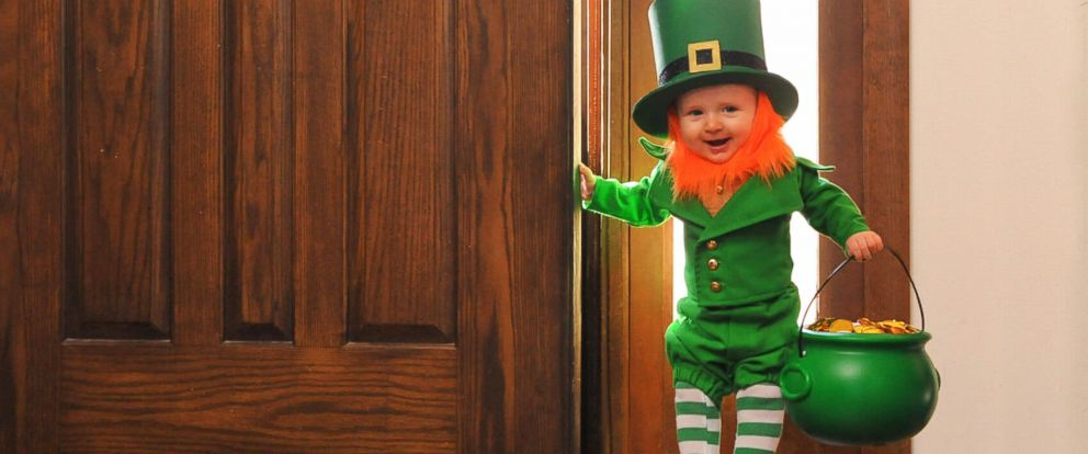 PHOTO: Alan Lawrence dressed his son, Rockwell, up as a real-life leprechaun.