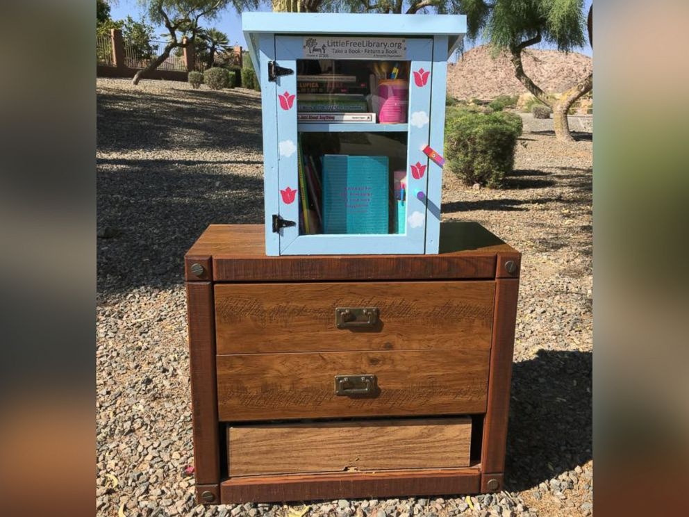PHOTO: On July 2, Heather Wolcott was informed that her daughters Little Free Library was stolen.