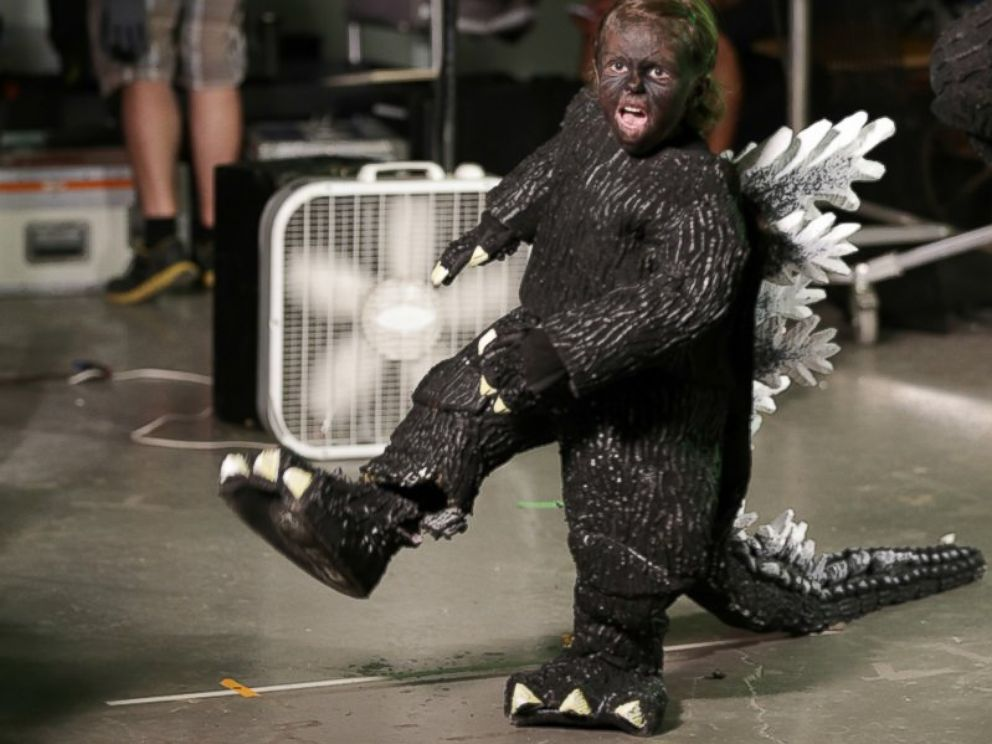 PHOTO: Maddex, 5, told Make-A-Wish wish granters that he wanted to be Godzilla.