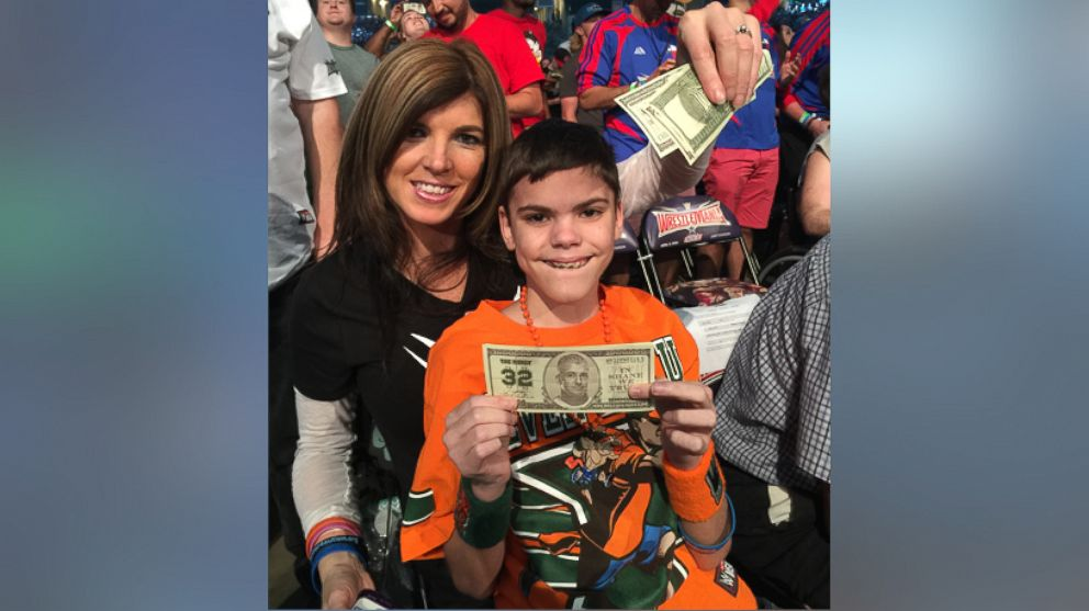 Danita Tutt photographed with her son Colby at WrestleMania on April 3.