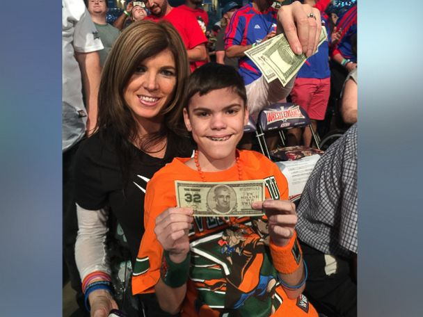 PHOTO:Danita Tutt photographed with her son Colby at WrestleMania on April 3.