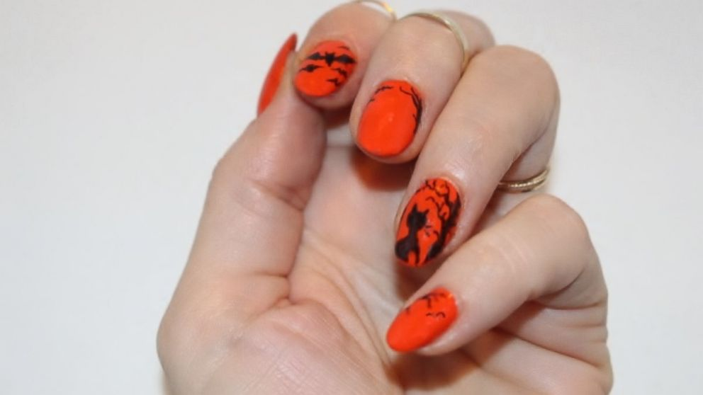 Simple DIY Halloween Nail Art - ABC News