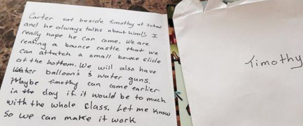 "PHOTO: Tricia Klein said reading the note was a ""wonderful moment."""