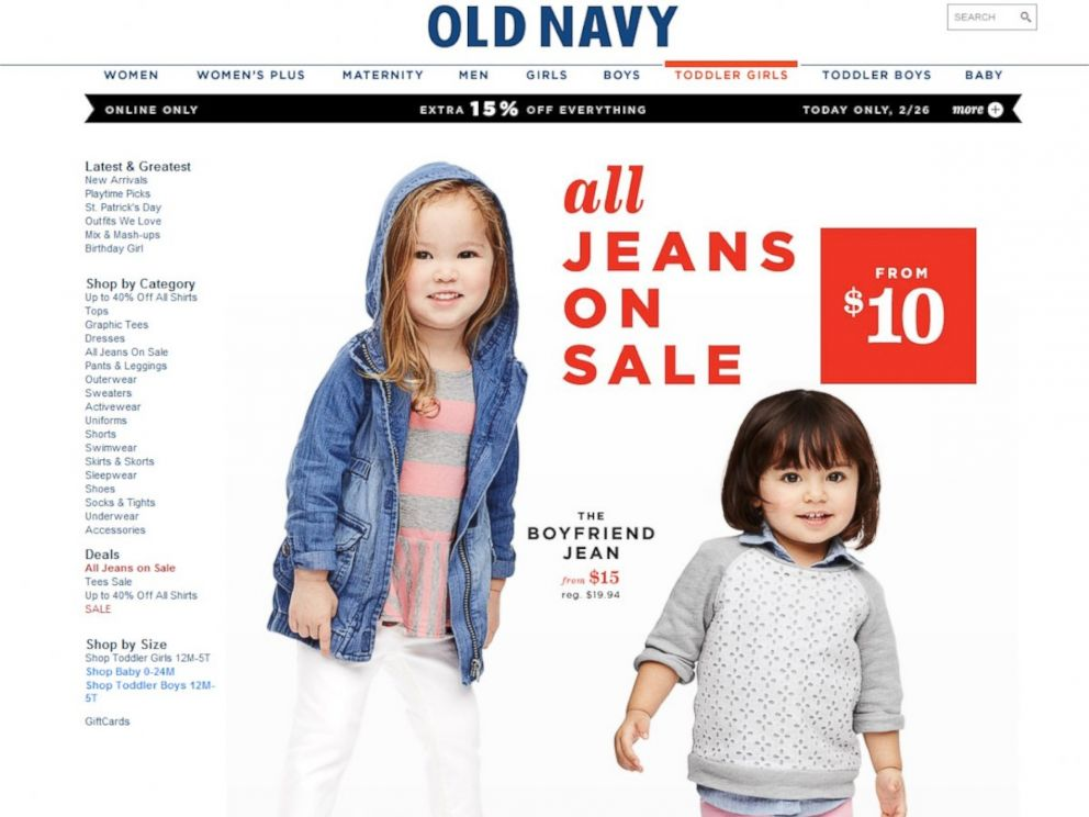 cf07b0d6 PHOTO: Old navy now offers jeans in boyfriend jean for toddler girls.