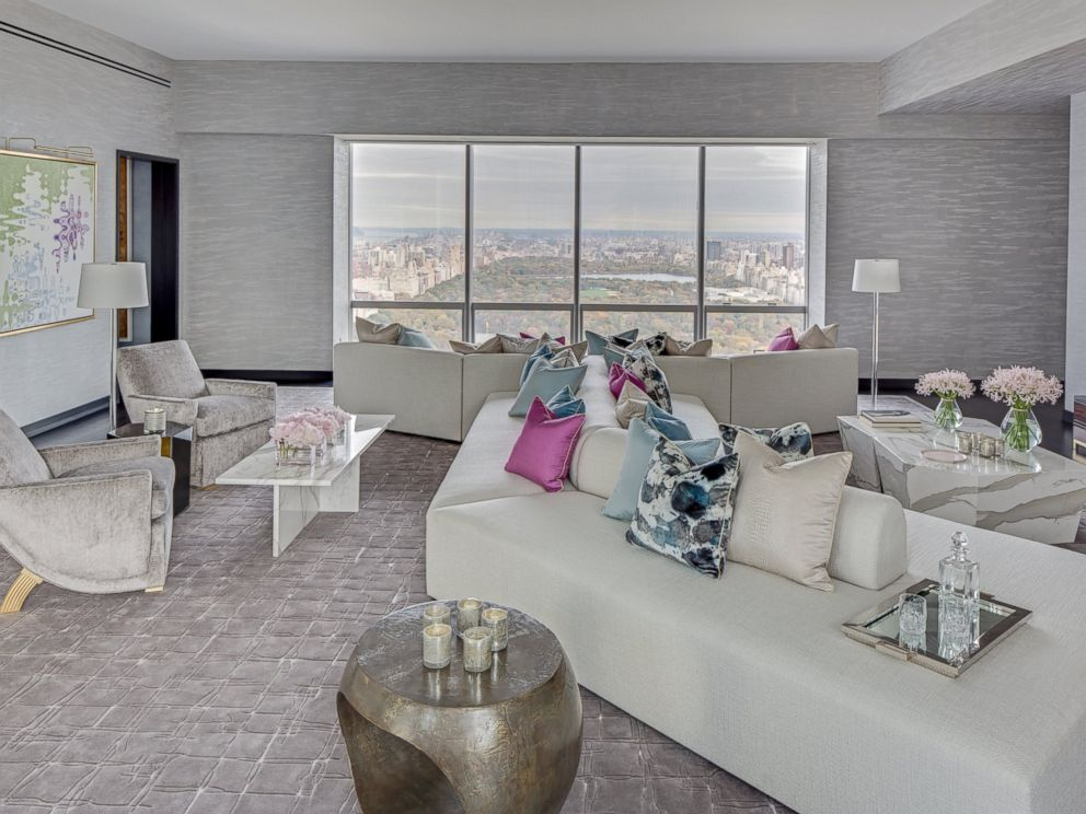PHOTO: View Of The Living Area Of A Model Apartment In The Luxurious One57  Building