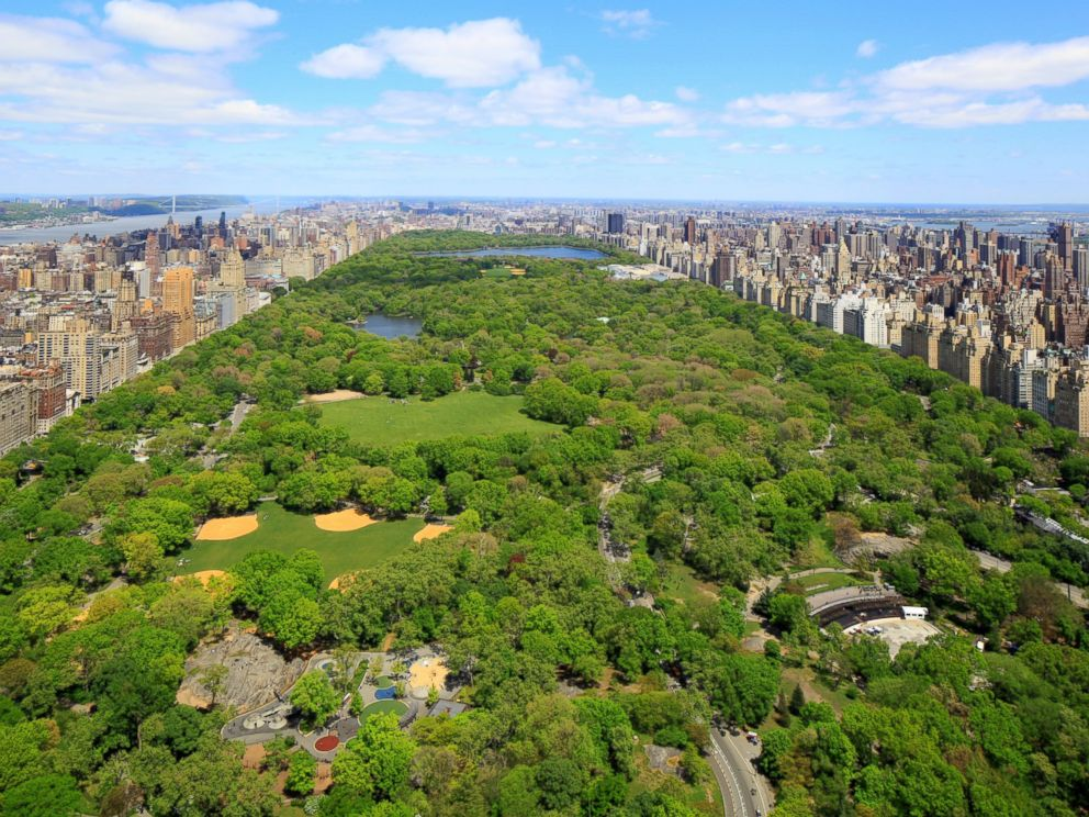 PHOTO: View of Central Park from a model apartment inside the luxurious One57 building in New York City.