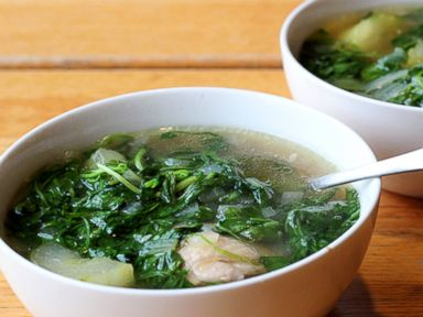 Tinola filipino chicken soup with watercress and chayote squash photo paul qui recipes forumfinder Images