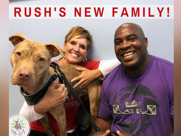 PHOTO: Rush pictured with his adopted family, Oct. 9, 2015.