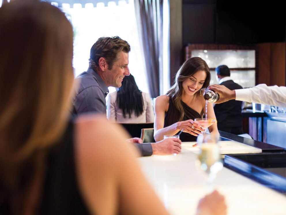 PHOTO: A Pretty Woman cocktail is offered while guests take in the Rodeo Drive view.