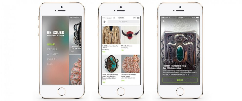 PHOTO: A new fashion app helps shoppers source superlative vintage style.