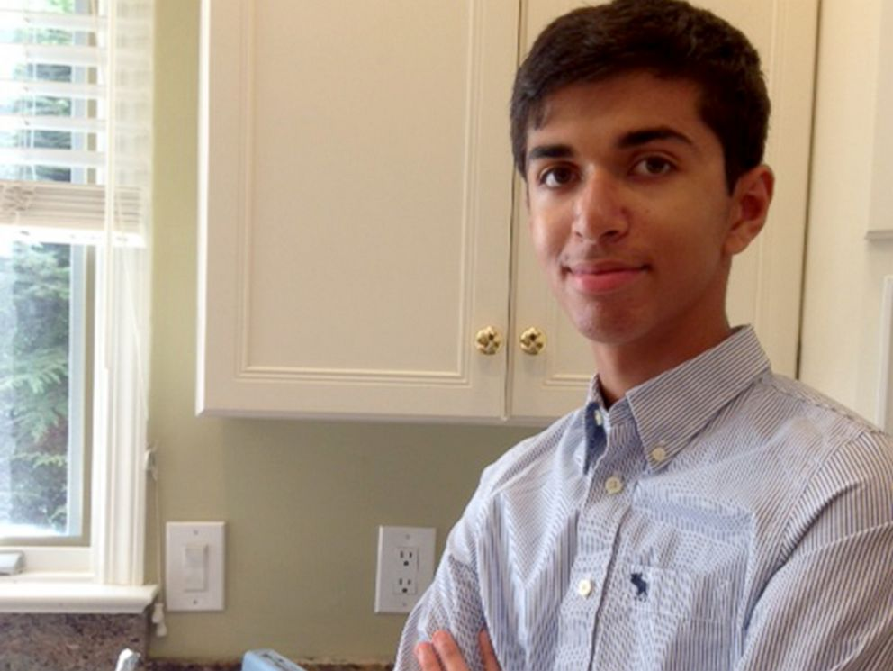 PHOTO: Sahil Doshi, 14, built a new battery as a low-cost alternative for energy in developing countries.