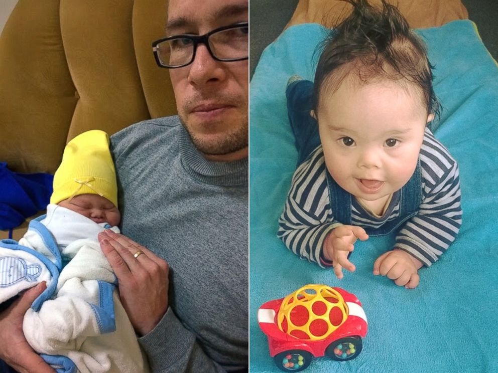 PHOTO: Samuel Forrest, 37, of Auckland, New Zealand, was given an ultimatum from his wife to give up their newborn son Leo with Down Syndrome.