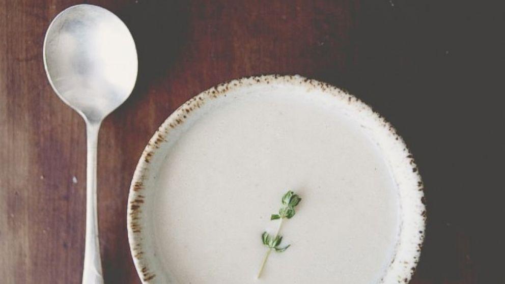 Claire Thomas' cauliflower brie soup.