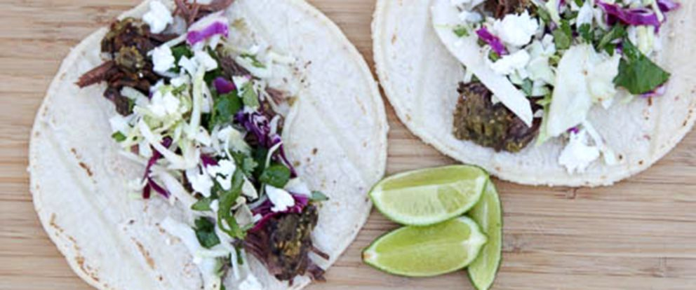PHOTO: Salsa Verde Shredded Beef Tacos Recipe