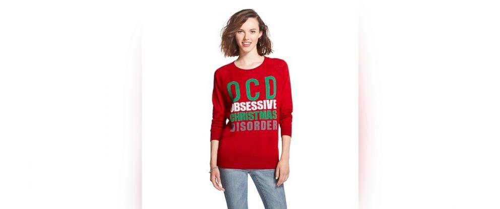 Bullseye Placed On Target For Obsessive Christmas Disorder Sweater