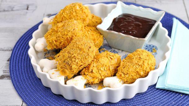 PHOTO: Tastemades fried chicken cakepops.