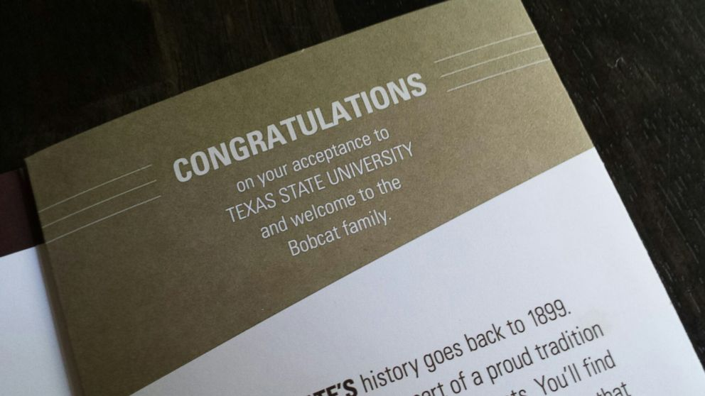 Texas State University Mistakenly Sends Acceptance Brochures to