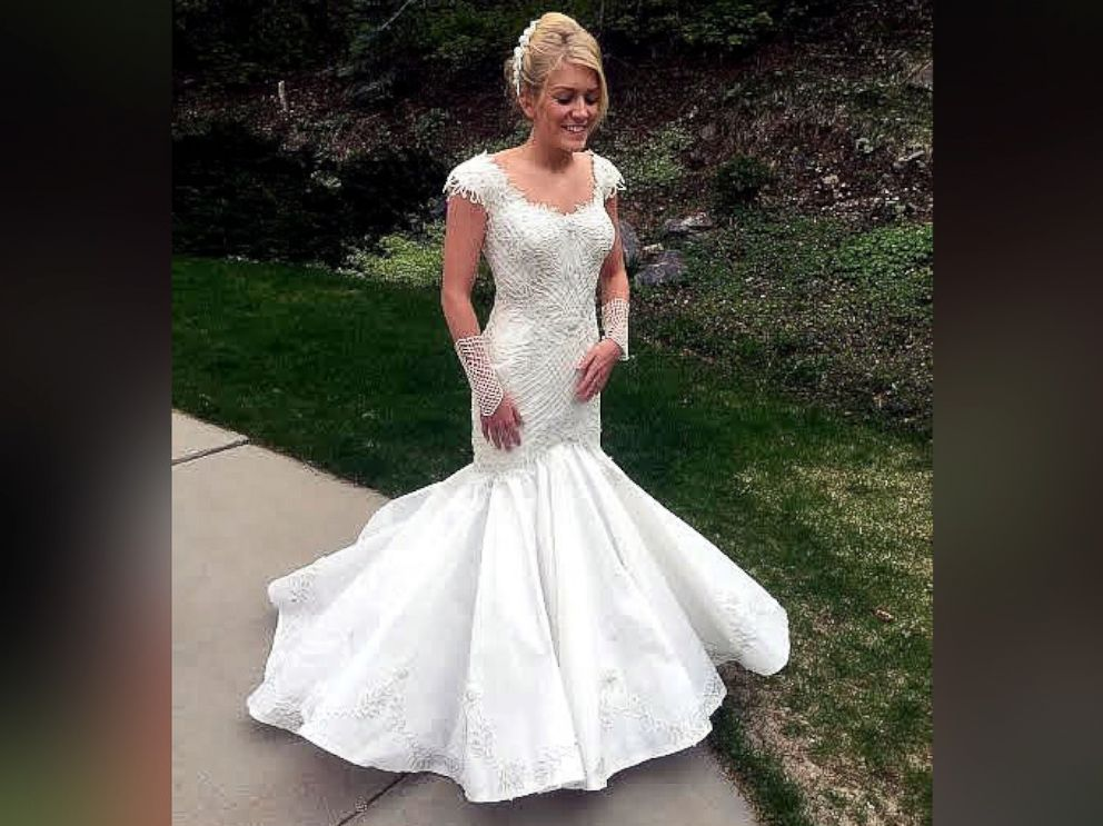Toilet paper wedding dresses stun in annual contest abc news for Have wedding dress made