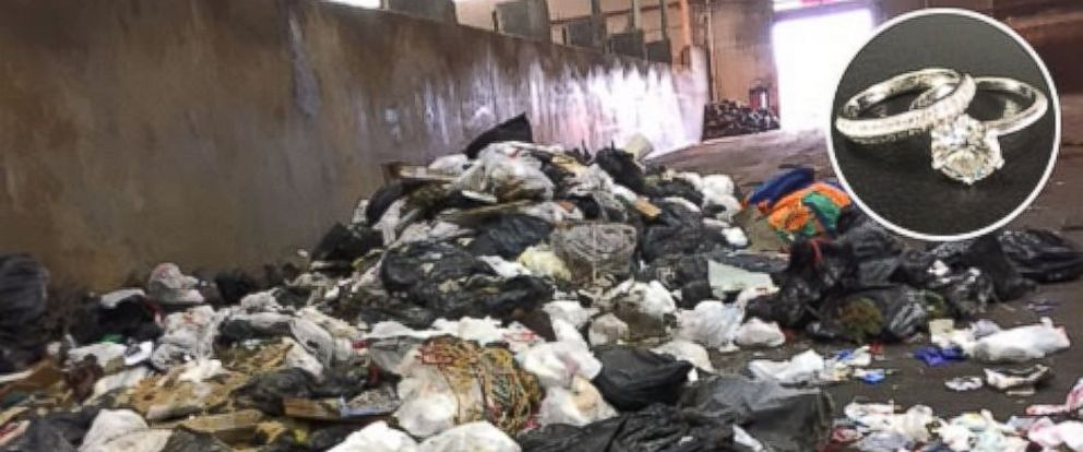Mom Digs in 7 Tons of Trash for Missing Wedding Rings Lost While