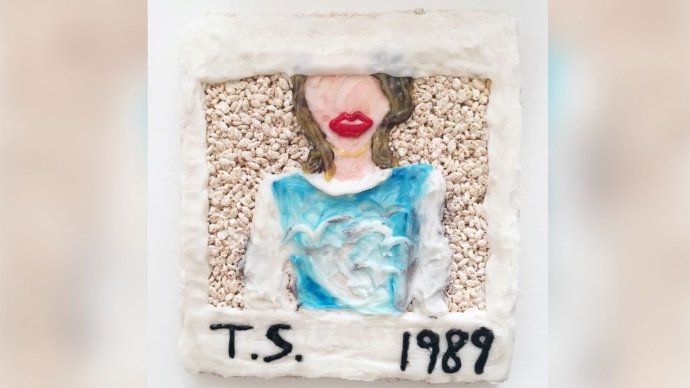 Taylor Swift's latest album cover takes over the Misterkrisp canvas.