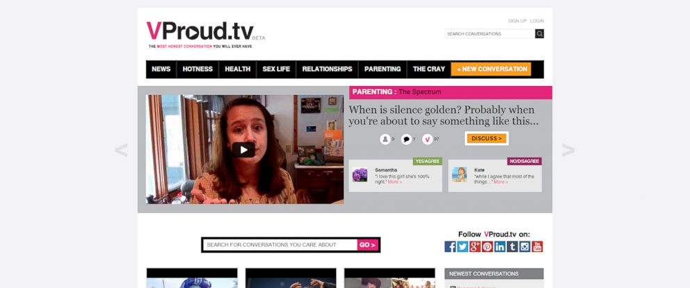 PHOTO: VProud.tv is a new social platform for women