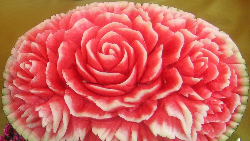 deliciously sweet watermelon carvings photos