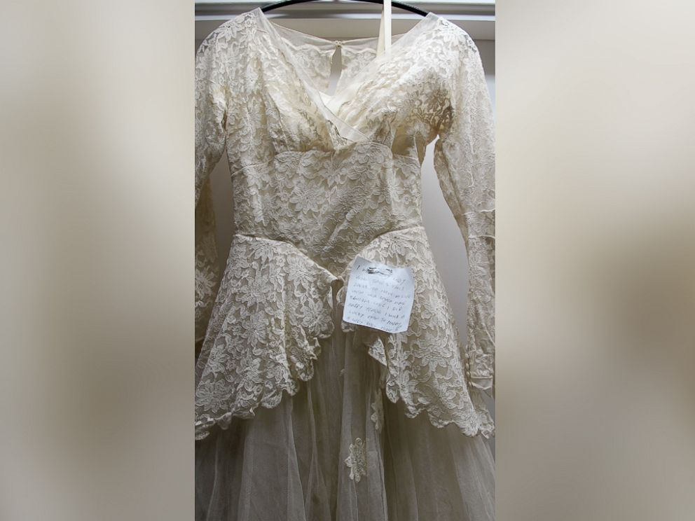 PHOTO: The note was found attached to the dress on June 8.