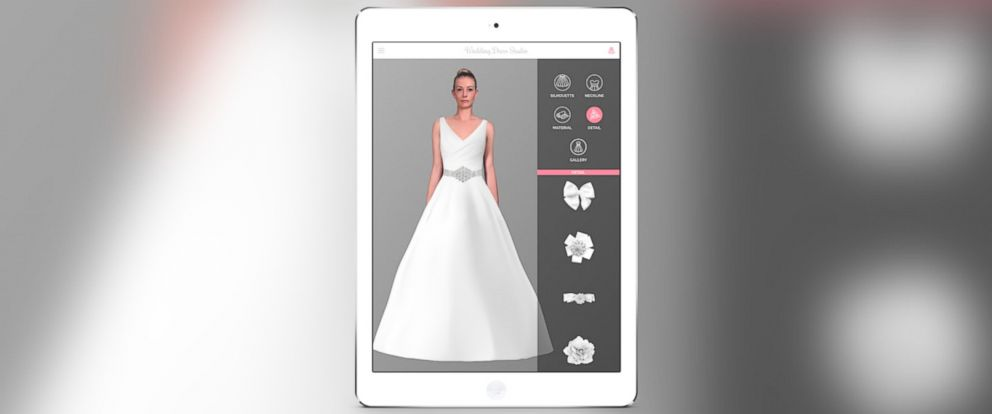 New wedding dress app uses 39 augmented reality technology for Virtual try on wedding dress