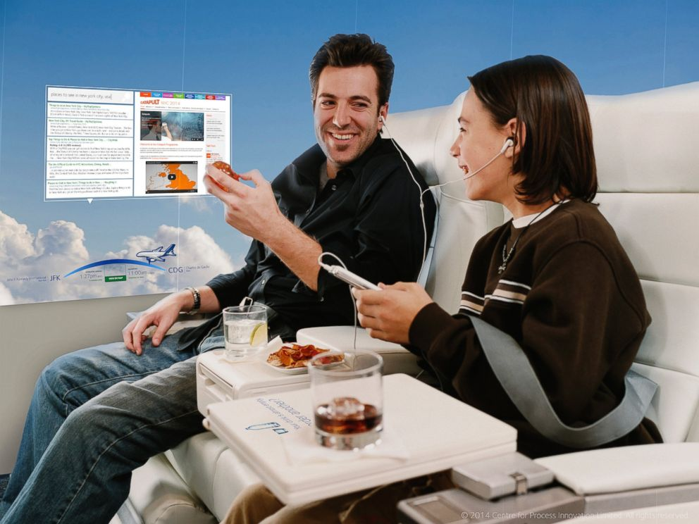 PHOTO: Live video, information, and in-flight services at your fingertips.