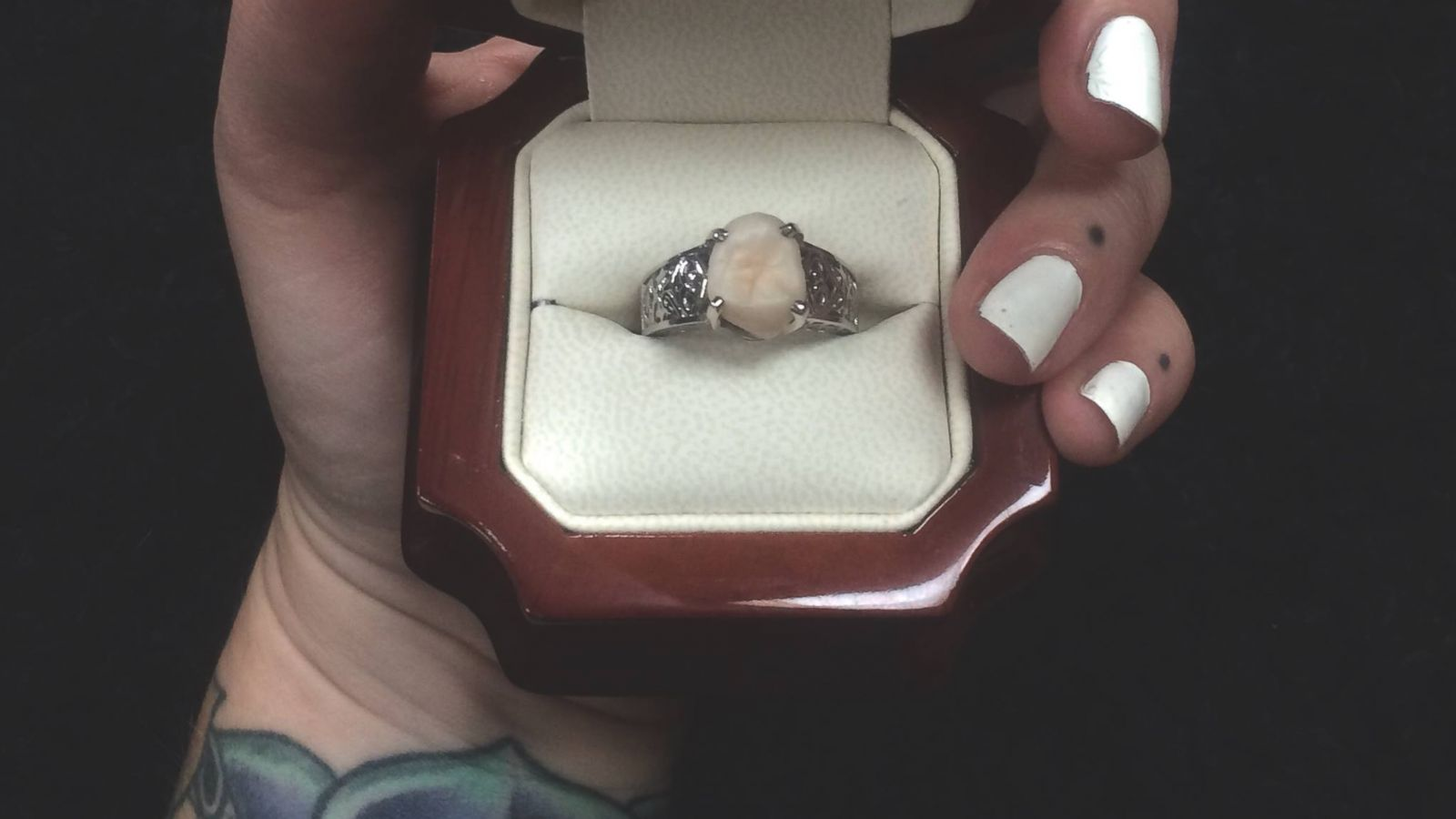 Canada Man Proposes to Girlfriend With Engagement Ring Made From His