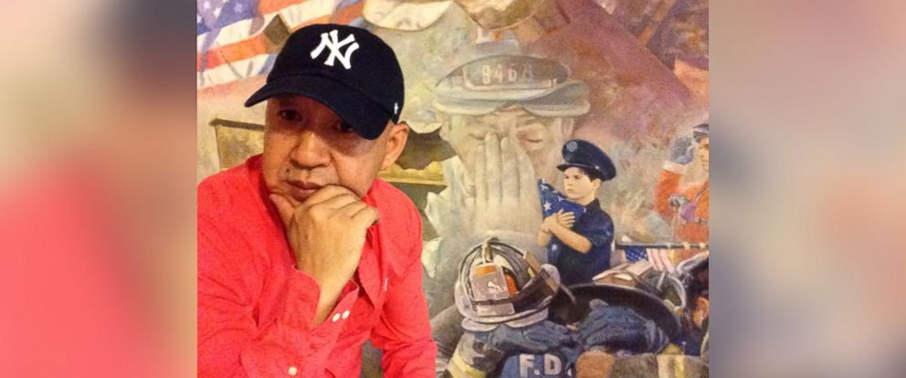 PHOTO: Yi Yang, a Chinese-American artist, has completed a colossal painting to honor the 343 firefighters and paramedics who died on 9/11.