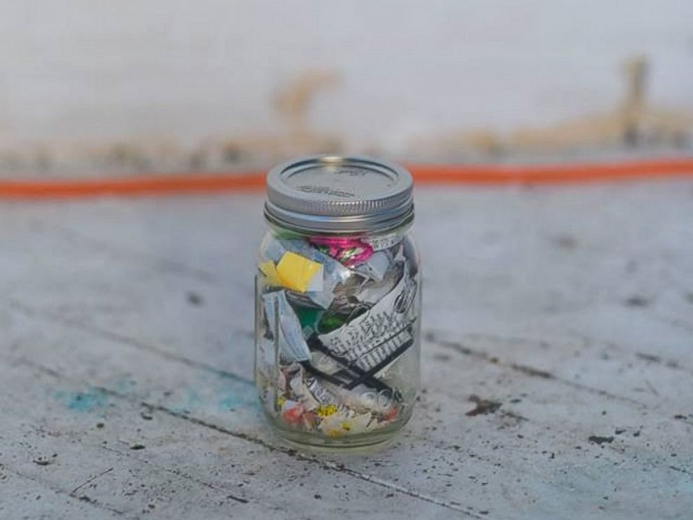 PHOTO:Since going waste-free four years ago, Lauren Singer can fit all of the garbage she has produced into a single mason jar.