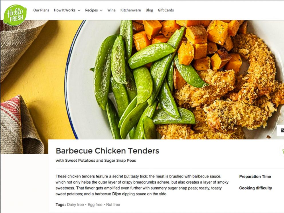 PHOTO: GMA ordered the Barbecue Chicken Tenders from Hello Fresh.