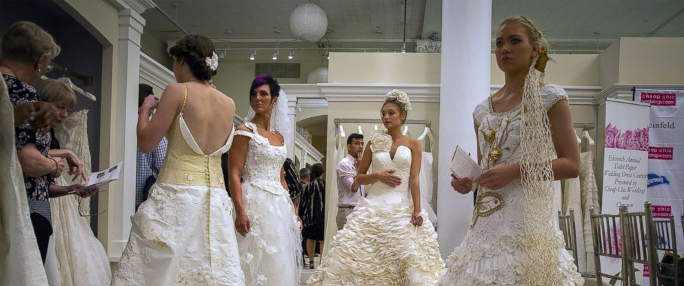 Toilet Paper Wedding Dresses So Stunning Youd Be Proud to Wear Them