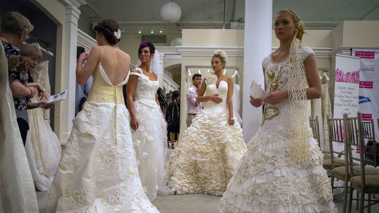 Toilet Paper Wedding Dresses So Stunning You\'d Be Proud to Wear Them ...