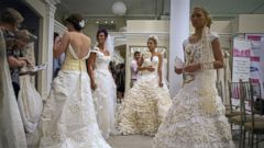 Simply Stunning Wedding Dresses Made From Toilet Paper