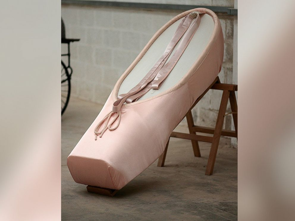 PHOTO: In this undated file photo, a ballet shoe-shaped coffin, designed by Crazy Coffins, in Leicestershire, England, is pictured.