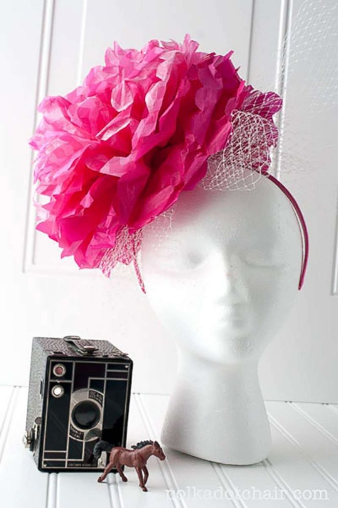 PHOTO: The blog, The Polka Dot Chair, shares their instructions for creating a DIY fascinator.