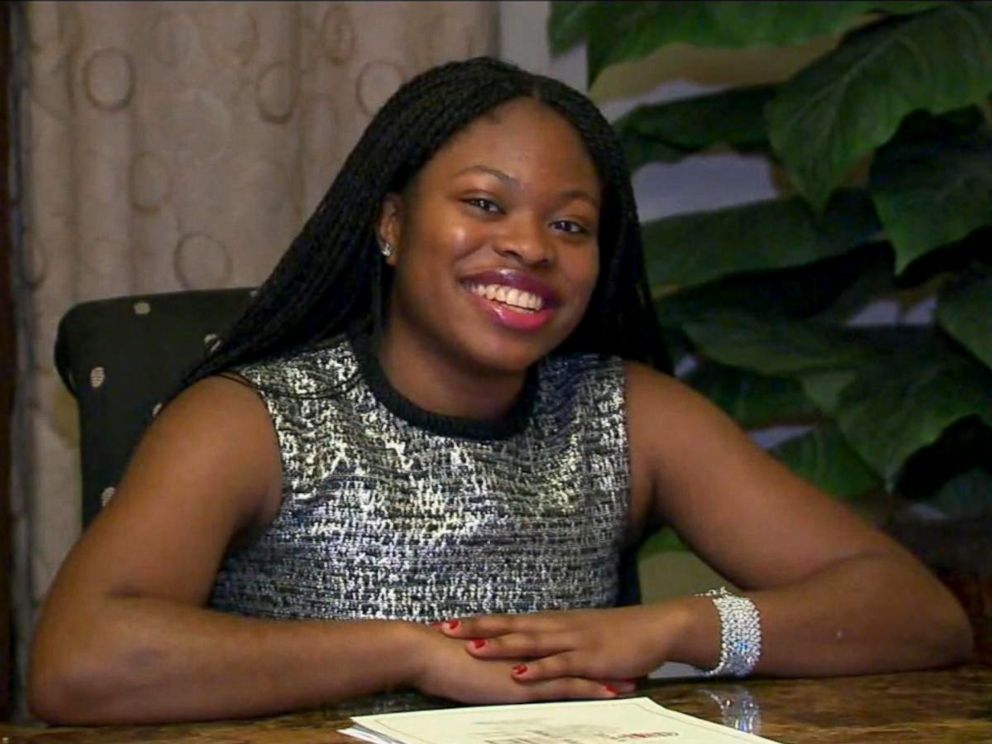 PHOTO: Ifeoma White-Thorpe, 17, a senior at Morris Hills High School in Rockaway, New Jersey, got into all eight of the most prestigious schools in the United States.