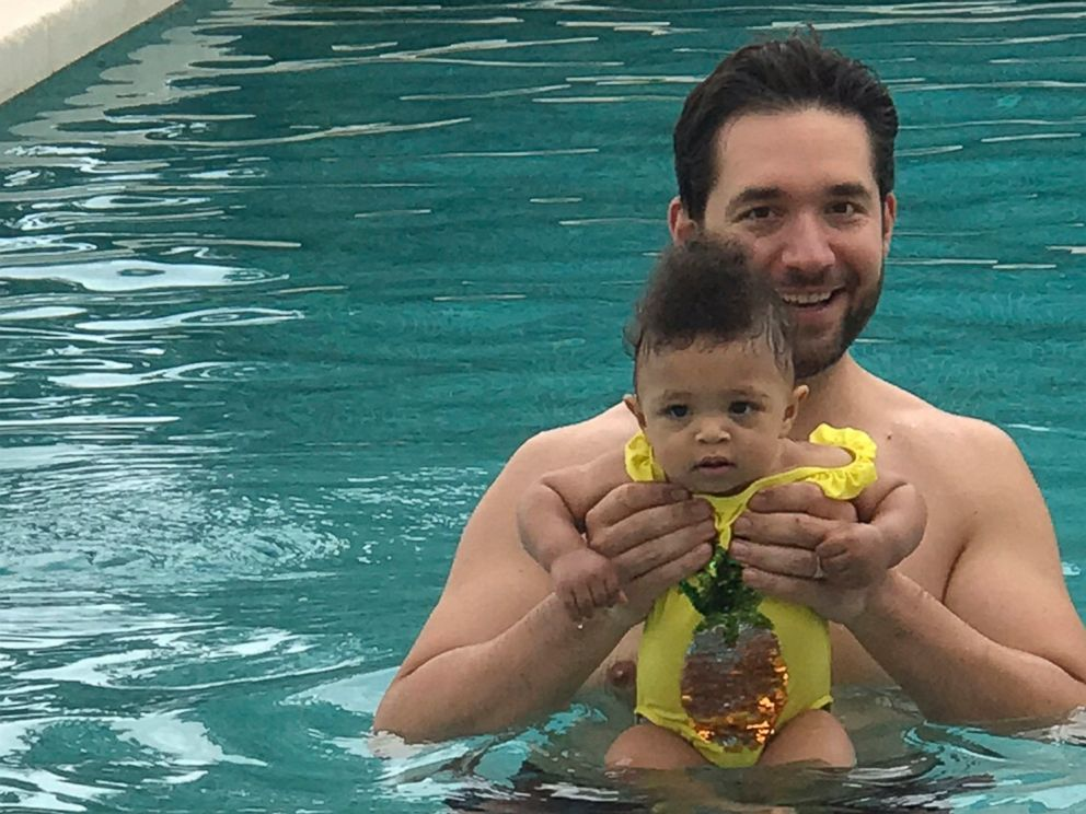 In this undated photo provided by Edelman communications marketing firm, Alexis Ohanian, founder of the social media company Reddit, poses for a photo with his daughter Olympia. Ohanian wants other guys to be jealous of him. Not because hes a multim