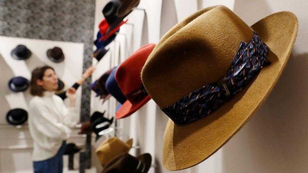 From Bogart to millennials  Italian hat maker tries new look - ABC News 52d207e30abb