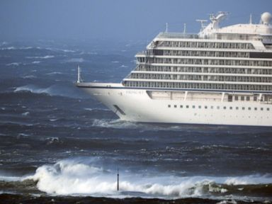 Cruise passengers hauled off ship by helicopter amid storm