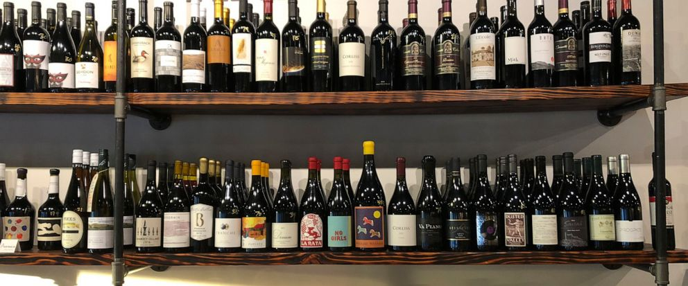 This Aug. 12, 2019 photo shows a selection of local wines at The Thief wine bar and bottle shop in Walla Walla, Wash. Southeastern Washington has been producing high-quality wines for decades. But in the past five years, the wineries of the Walla Wal