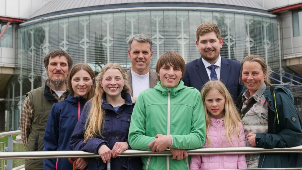 Undated photo provided by ADF International on Thursday, Jan. 10, 2019 shows the German Wunderlich family. The European Court of Human Rights on Thursday rejected the appeal of a German couple who have been fighting for years to home school their kids, saying the government was within its rights to temporarily remove their children. Home schooling is illegal in Germany and the Strasbourg, France-based court noted it had already upheld that law in previous decisions. (ADF International via AP)