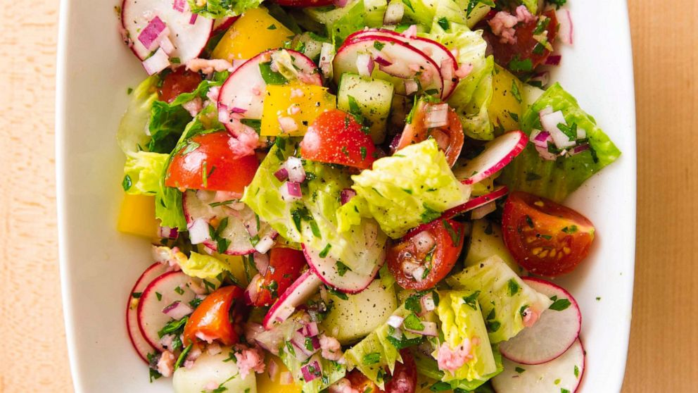 The key to a crisp chopped salad is salting ahead of time