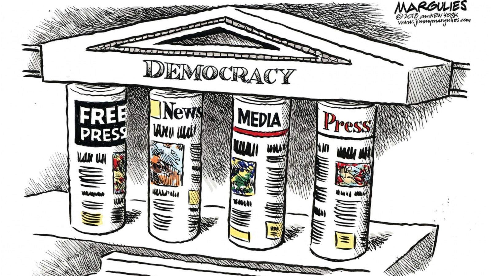 Exhibit Highlights Cartoonists Focus On First Amendment Abc News