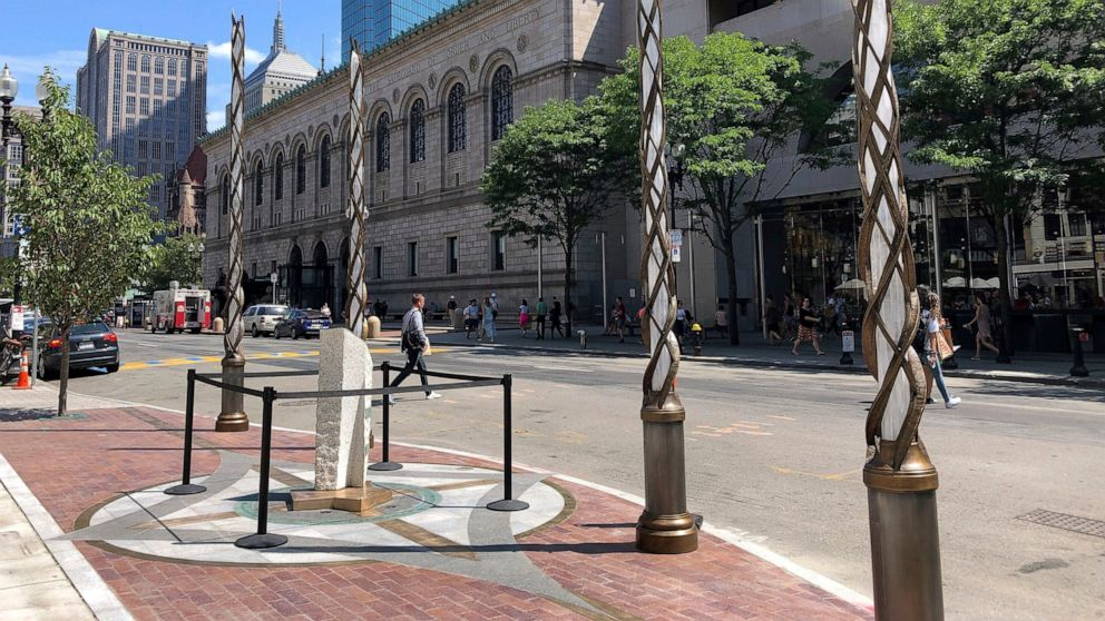 Memorial to victims of Boston Marathon bombing completed
